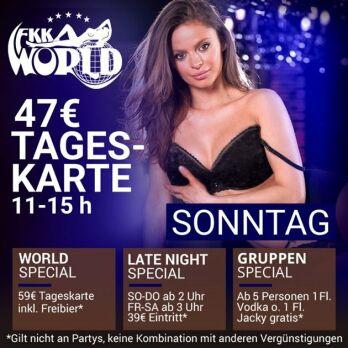 11-15h Tageskarte nur 47 € + Big Brunch