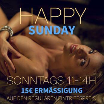 Happy Sunday (11-14h): 15 Euro Ermäßigung!