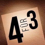 4 für 3