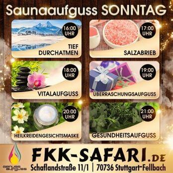 Sonntag: Sauna-Aufguss